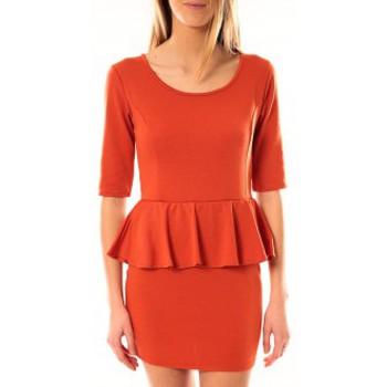 Kleidung Damen Kurze Kleider Tcqb Robe Moda Fashion Orange Orange
