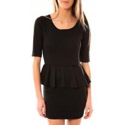 Kleidung Damen Kurze Kleider Tcqb Robe Moda Fashion Noir Schwarz
