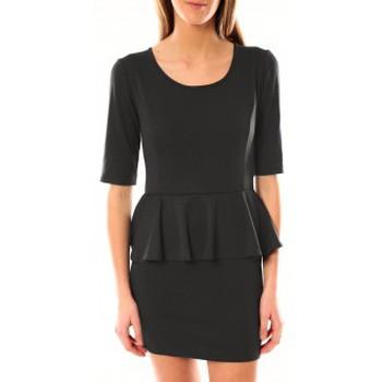 Kleidung Damen Kurze Kleider Tcqb Robe Moda Fashion Anthracite Grau
