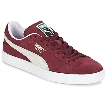 Schuhe Sneaker Low Puma SUEDE CLASSIC Rot / Weiss
