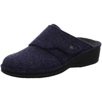 Schuhe Damen Hausschuhe Finn Comfort ANDERMATT 6550-416048 blau