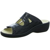 Schuhe Damen Pantoffel Longo Pantoletten 1005317/0 schwarz