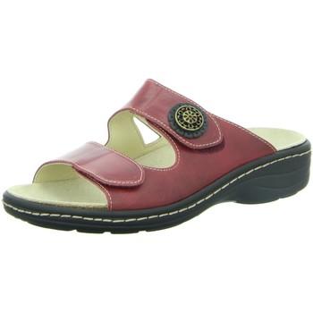 Schuhe Damen Pantoffel Longo Pantoletten 100639 rot