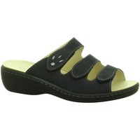 Schuhe Damen Pantoffel Longo Pantoletten 1005315 blau