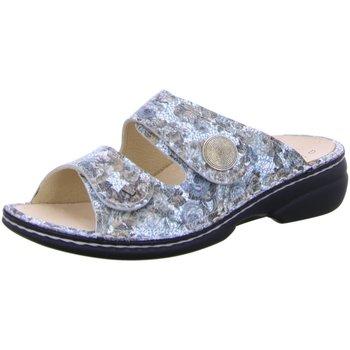 Schuhe Damen Pantoffel Finn Comfort Pantoletten 02550 555183 blau
