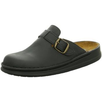 Schuhe Herren Hausschuhe Helix Offene Clog 55041-31 schwarz