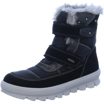 Schuhe Mädchen Schneestiefel Superfit Klettstiefel 1-00214-02 schwarz