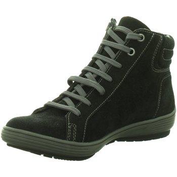 Schuhe Damen Sneaker High Longo Schnuerschuhe Beq.Schnr/Schlupfstf 1005406 schwarz