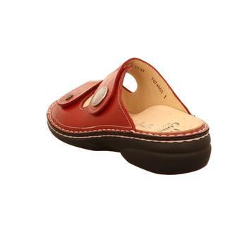 Finn Comfort Pantoletten SANSIBAR 02550-423147 rot - Schuhe Pantoffel Damen 9995