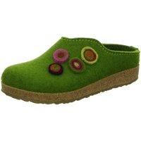 Schuhe Damen Hausschuhe Haflinger 731023-36 grün
