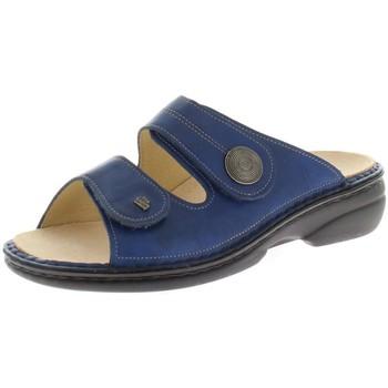 Schuhe Damen Pantoffel Finn Comfort Pantoletten Sansibar Pantolette 2550/120040 blau