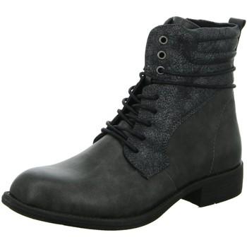Schuhe Damen Stiefel Diverse Stiefeletten Schnürstf.gl.Bod.KF 1003440 grau