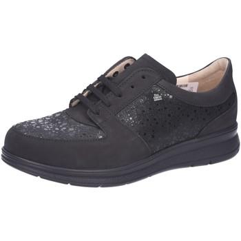 Schuhe Damen Derby-Schuhe Finn Comfort Schnuerschuhe Royan Nubuk Schwarz ROYAN 901654 schwarz