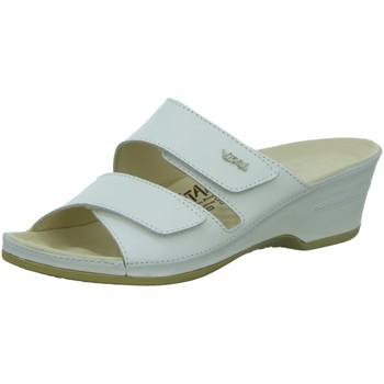 Schuhe Damen Pantoffel Vital Komfort Eva 0448-26-10 weiß Nappa 0448-26-10 weiß
