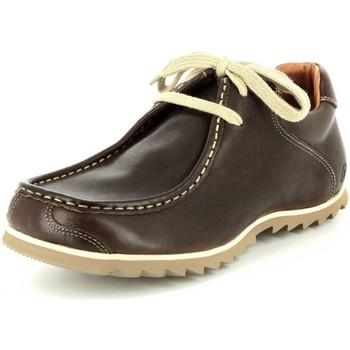 Schuhe Herren Boots Snipe Schnuerschuhe 42183E-MARRON braun