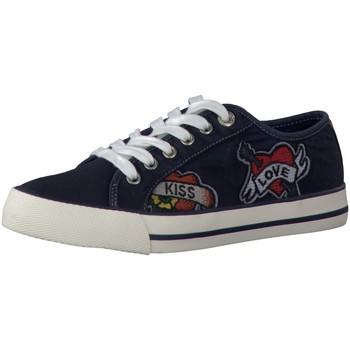 Schuhe Damen Sneaker Low Diverse Da.-Schnürer 5-5-23639-38/805 blau