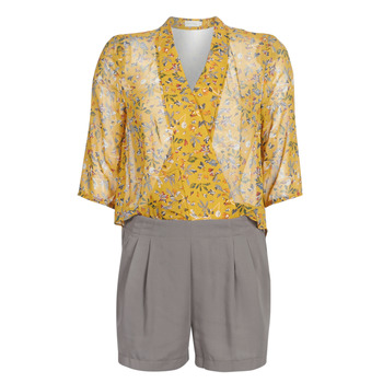 Kleidung Damen Overalls / Latzhosen See U Soon GARAGALE Gelb / Kaki