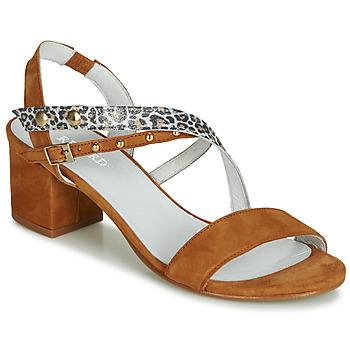 Schuhe Damen Sandalen / Sandaletten Regard REFTA V1 ANTE CAMEL Braun