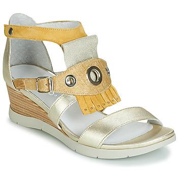 Schuhe Damen Sandalen / Sandaletten Regard RUBIKA V3 VEL JAUNE Gelb