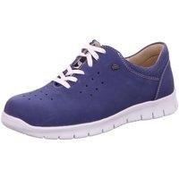 Schuhe Damen Derby-Schuhe Finn Comfort Schnuerschuhe Barletta electro/Nubuk 2851-007356 blau