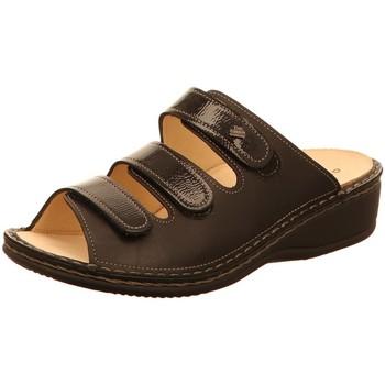 Schuhe Damen Pantoffel Finn Comfort Pantoletten Pisa 02501 900158 schwarz