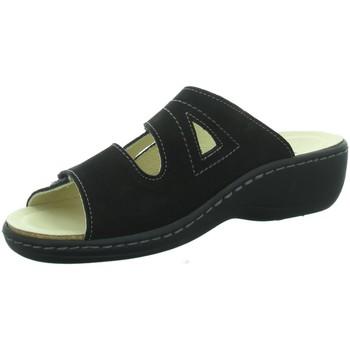 Schuhe Damen Pantoffel Longo Pantoletten 1006407 LH 210027 schwarz