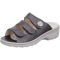 Schuhe Damen Pantoffel Fidelio Pantoletten 236015-68 grau