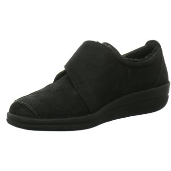 Schuhe Damen Slipper Longo Slipper Schwarzer Slipper 1005300 schwarz