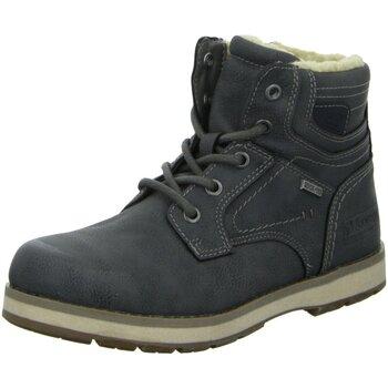 Schuhe Jungen Boots Montega Schnuerstiefel 1640504,coal 1640504 grau