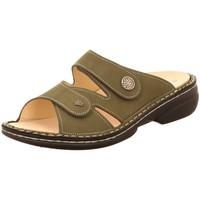 Schuhe Damen Pantoffel Finn Comfort Pantoletten 02571-007223 oliv