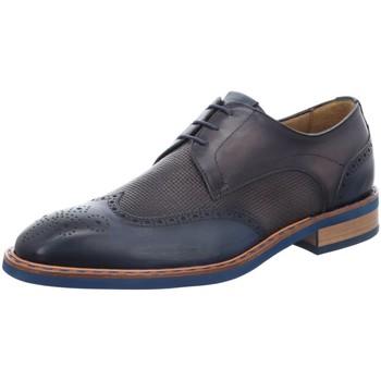 Schuhe Herren Derby-Schuhe Giorgio Schnuerschuhe Lyralochnung 22199-02 blau