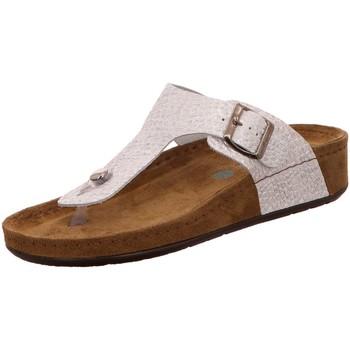 Schuhe Damen Pantoffel Wolkenwerk Pantoletten Alegra bianco 10201-100 silber