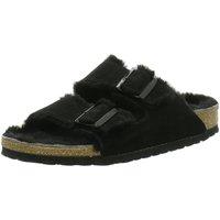 Schuhe Herren Pantoffel Birkenstock Arizona Fell[Slipper] 752661 schwarz