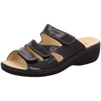 Schuhe Damen Pantoffel Longo Pantoletten 1006397 1006397 schwarz