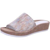 Schuhe Damen Pantoffel Ara Pantoletten taupe/puder mamba/ruvido 12-15520-09 beige