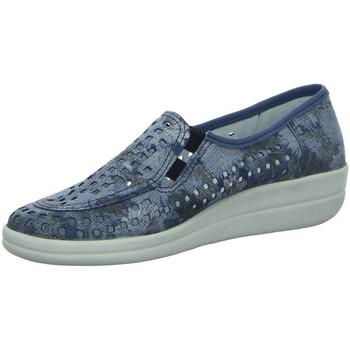 Schuhe Damen Ballerinas Longo Slipper Da.-Slipper 1006534 blau
