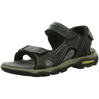 Schuhe Herren Sportliche Sandalen Longo Offene Sandaletten 3075187-1 schwarz
