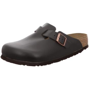 Schuhe Herren Pantoletten / Clogs Birkenstock Offene Boston Weichbett 260221 braun
