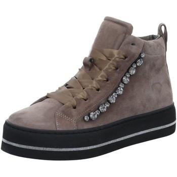 Schuhe Damen Sneaker Maripé Stiefeletten 25691 beige