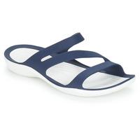 Schuhe Damen Pantoletten Crocs SWIFTWATER SANDAL W Marine