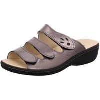 Schuhe Damen Pantoffel Longo Pantoletten Pantolette 1006396 braun