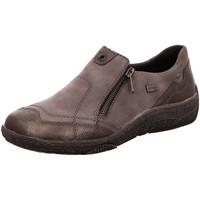 Schuhe Damen Slipper Remonte Dorndorf Slipper Komfort Slipper Halbschuh extra weit D3816-02 grau