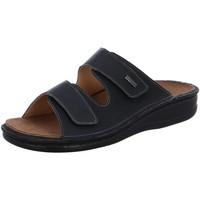 Schuhe Herren Pantoffel Fidelio Offene Softline Pantolette MARIO 375025-90 schwarz