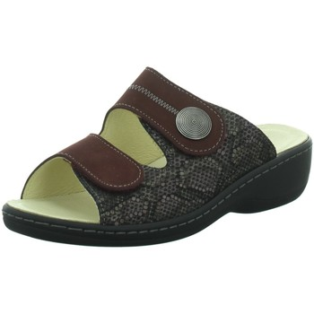Schuhe Damen Pantoffel Longo Pantoletten Pantolette in Bordo 1011926 rot