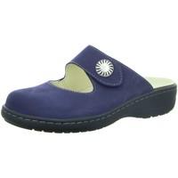 Schuhe Damen Pantoletten / Clogs Longo Pantoletten blau