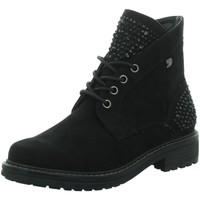 Schuhe Damen Wanderschuhe Tom Tailor Stiefeletten 5895201,black 5895201 00001 schwarz