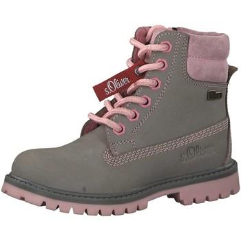 Schuhe Mädchen Wanderschuhe S.Oliver Schnuerstiefel grey pink 5-5-36105-21-233 grau