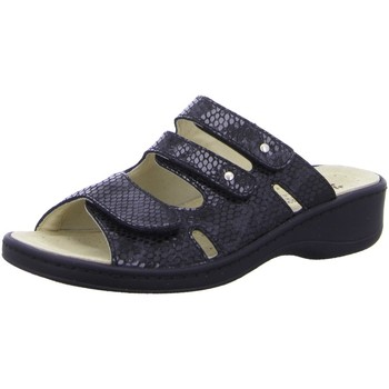 Schuhe Damen Pantoffel Hickersberger Pantoletten Kalblederfußbett Hallux 2871-9028 schwarz