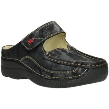 Schuhe Damen Pantoletten / Clogs Wolky Pantoletten Roll Slipper Amalia nubuck 0622710/003 grau