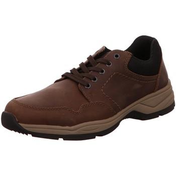 Schuhe Herren Arbeitsschuhe Rieker Schnuerschuhe wood/schwarz/moro B4402-23 braun